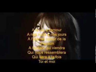Hélène Ségara en duo avec Joe Dassin - A toi - Paroles