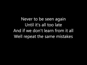 Hatebreed - Everylasting scar (lyrics)