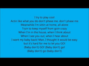 Fabolous ft T-Pain- Baby Don't Go with lyrics